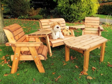 Kids Bench Set 756 - Bench, Armchairs, Table
