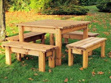 Kids Bench Set 762 - Benches, Square Dining Table