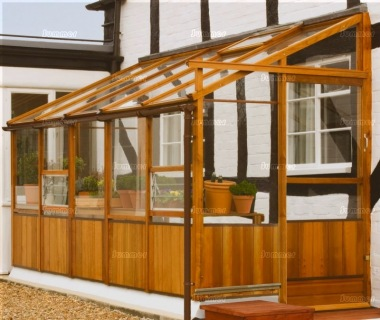 Cedar Lean To Greenhouse 83 Toughened Glass