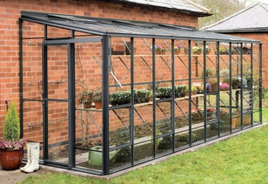 Aluminium Lean To Greenhouse 691 - Toughened Glass