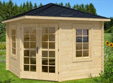 Corner Log Cabin 316 - 28mm, Plain or Georgian