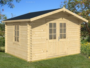 Apex Log Cabin 348 - Plain or Georgian, Double Door