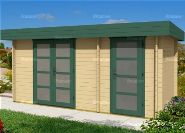 Two Room Pent Roof Log Cabin 404