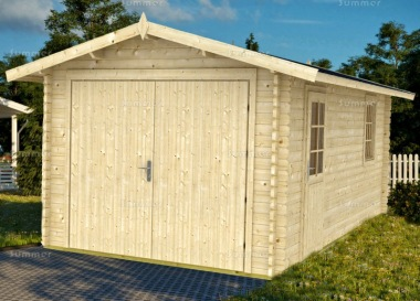Wooden 40mm Log Garage 435 - Apex, Personnel Door