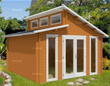 Log Cabin 446 - Split Level Roof, Double Glazed