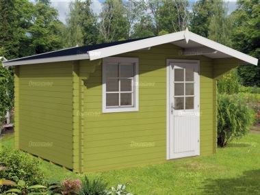 Apex Single Door Log Cabin 459 - Plain or Georgian