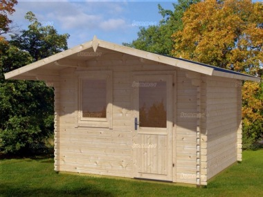 Apex Single Door Log Cabin 461 - Bespoke, Double Glazed