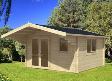 Apex Double Door Log Cabin 469 - Bespoke, Double Glazed