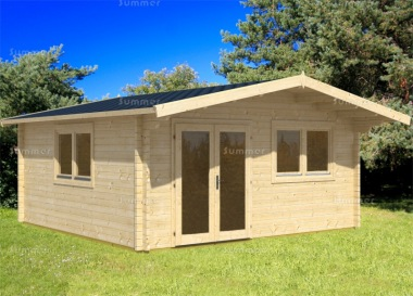 Apex Double Door Log Cabin 470 - Bespoke, Double Glazed