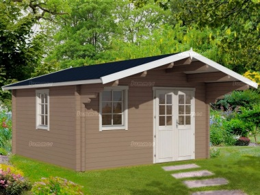 Apex Log Cabin 474 - Double Glazed, Double Door