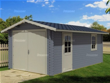 Wooden Log Garage 475 - Apex, Personnel Door