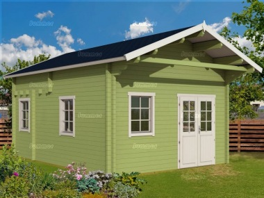 Three Room Apex Log Cabin 502 - Double Glazed, Loft Area
