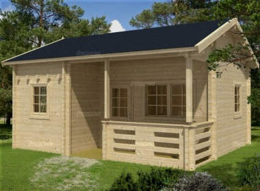 Three Room Side Door Apex Log Cabin 506 - Double Glazed, Loft Area