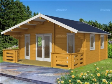 Three Room Apex Log Cabin 555 - Double Glazed