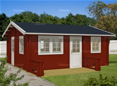 Four Room Side Door Apex Log Cabin 557 - Terrace