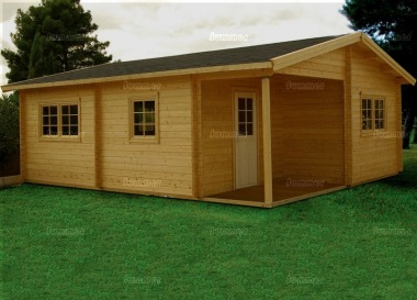 Multi Room Apex Log Cabin 809 - Integral Porch