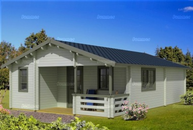 Four Room Apex Log Cabin 818 - Double Glazed, Integral Porch