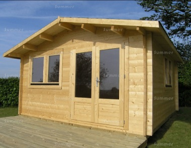 Apex Double Door Log Cabin 568 - Double Glazed