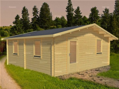 Three Room Apex Log Cabin 573 - Double Glazed