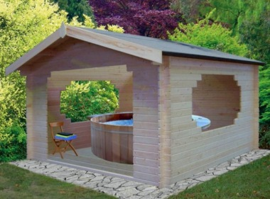 Wooden Gazebo 129 - Log Cabin, Hot Tub Cover