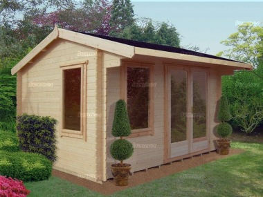 Side Door Apex Log Cabin 233 - Large Panes