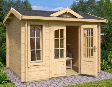 Clocktower Log Cabin 263 - Double Glazed, Double Door