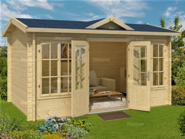 Clocktower Log Cabin 275 - 45mm, Double Glazed