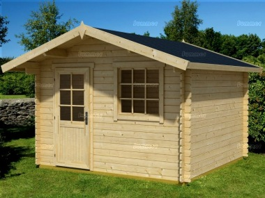 Apex Single Door 28mm Log Cabin 47