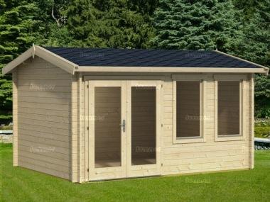 Side Door Apex 40mm Log Cabin 534 Double Glazed