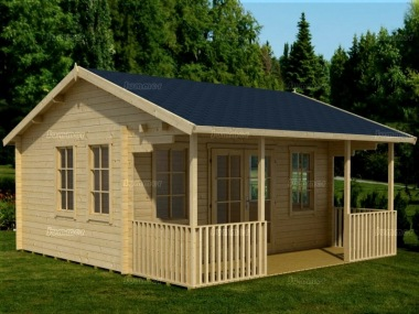 Side Door Apex 45mm Log Cabin 539 - Verandah, Double Glazed