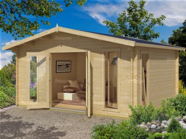 Apex 45mm Log Cabin 550 - Large Panes, Double Glazed