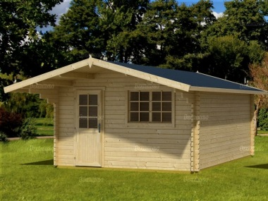 Apex Log Cabin 69 - Large Front Overhang