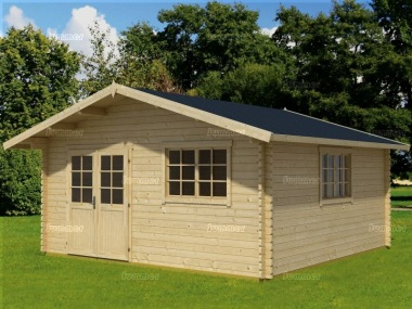 Apex Double Door 45mm Log Cabin 71 - Double Door