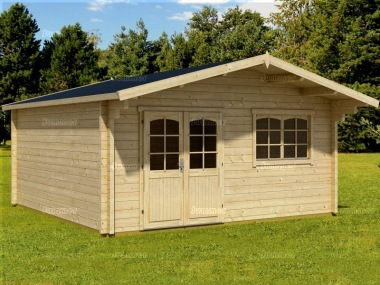 Apex Double Door 70mm Log Cabin 98 - Double Glazed