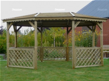 Gazebo 775 - Octagonal, Pressure Treated, Slatted Roof