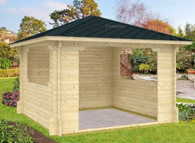 Wooden Gazebo 154 - 40mm Log Cabin, Hot Tub Cover
