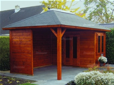 Hipped Roof Gazebo 388 - With Integral Summerhouse