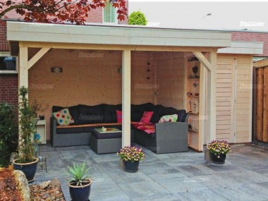 Pent Roof Gazebo 397 - With Integral Storage