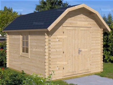 Log Cabin Shed 424 - Barn Style, 28mm Logs