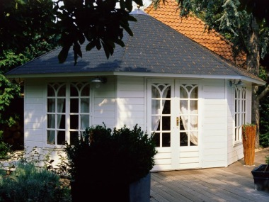 Double Door 45mm Octagonal Log Cabin 374