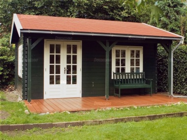 Side Door Apex Log Cabin 292 - Bespoke, Double Door