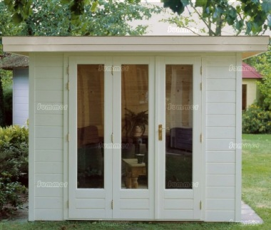 Folding Door Pent Roof Log Cabin 302