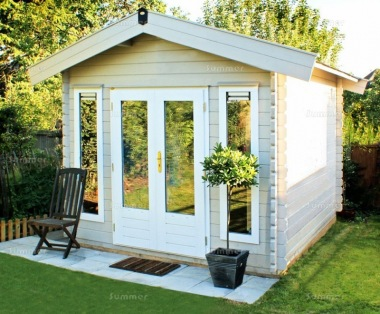 Apex Double Door Log Cabin 663 - Double Glazed