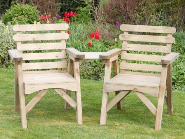 Love Seat 826 - Angled Tray, Pressure Treated