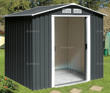 Apex Metal Shed 370 - Double Door, Galvanized Steel