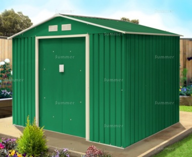 Metal Shed 375 - Apex Roof, Double Door, Galvanized Steel