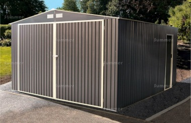 Apex Metal Garage 384 - Double Door, Galvanized Steel