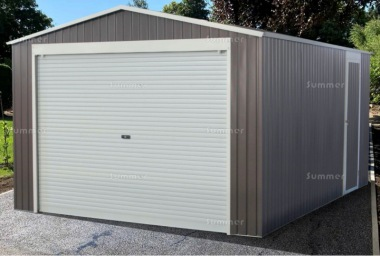 Apex Metal Garage 386 - Roller Shutter Door, Galvanized Steel