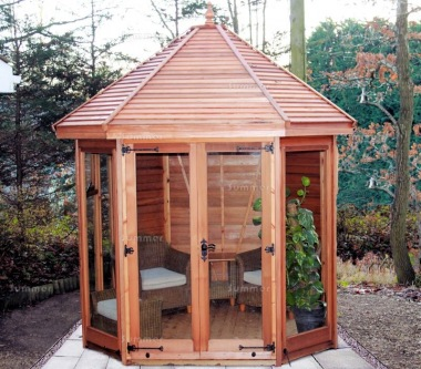 Octagonal Summerhouse 50 - Low Level Glazing