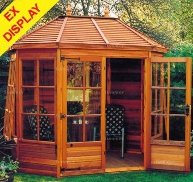 Georgian Octagonal Summerhouse 63 - Cedar, Ex Display, Collection Only